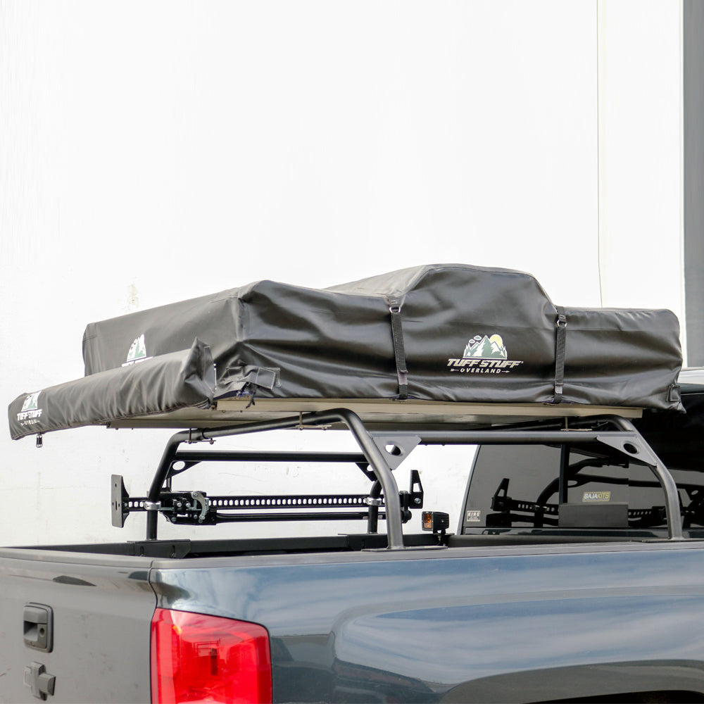 TUFF STUFF® Rooftop Tent Bed Rack, Adjustable, Powder Coated, Black 40″