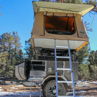 TUFF STUFF® Combo Deal: Xtreme Base Camp Expedition Trailer, Delta Roof Top Tent and 6.5′ Awning
