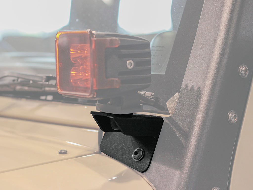 Jeep Wrangler JK/JKU Windshield Spot Light Brackets - by Front Runner