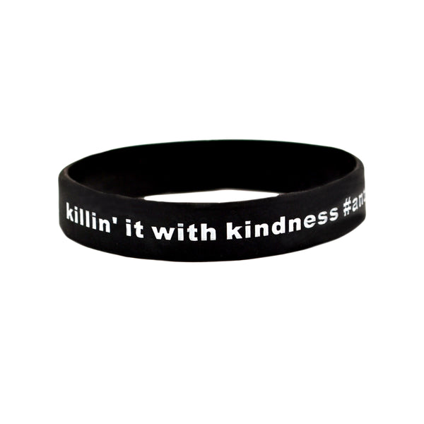 Killin it With Kindness Black Wrist Band