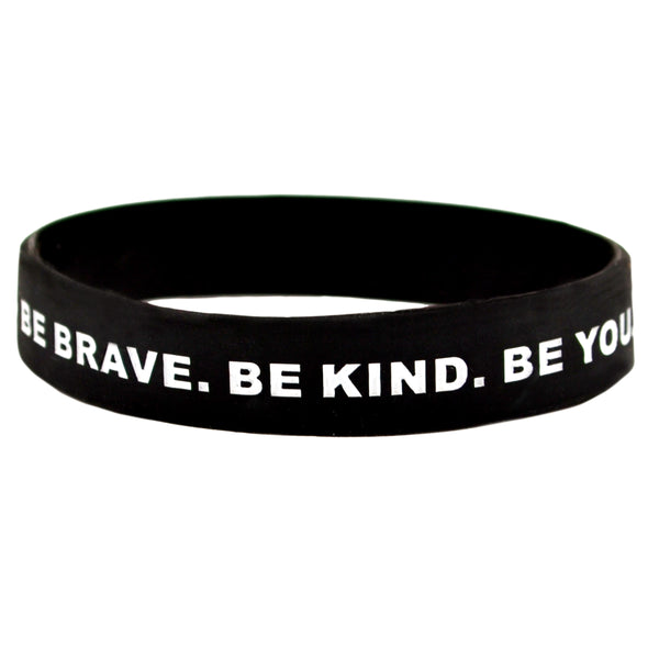 Be Brave Be Kind Be You Black Wrist Band