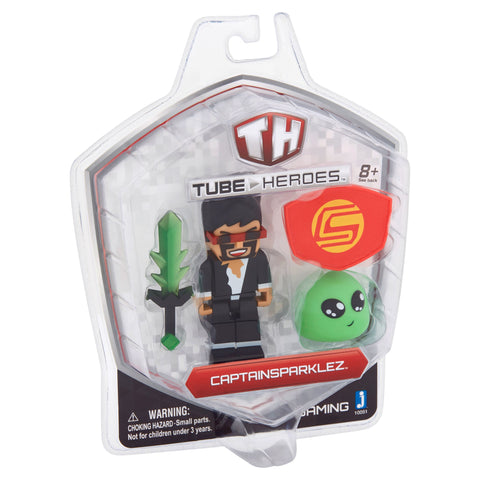 Tube Heroes Gaming CaptainSparklez Action Figure 8+