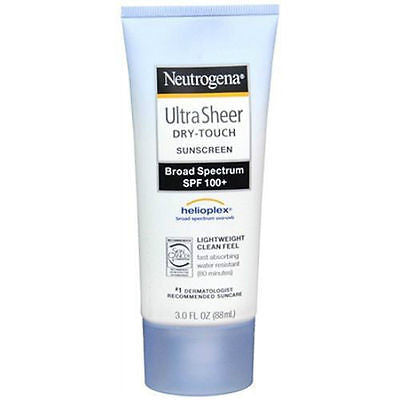 Neutrogena Ultra Sheer Dry-Touch Lotion SPF 100+ 3oz Sunscreen Broad EXP 2018
