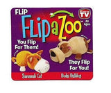 "COMBO 16"" FlipAZoo & 5"" Flipzee ( BULLDOG / CAT )  2-in-1 FlipAzoo Huggable"