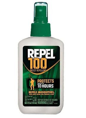 Repel 100 Insect Repellent Pump Spray, 98%DEET, 4-Ounce 4oz new 94108 Mosquito