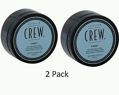 2pk American Crew Fiber - High Hold Low Shine 3oz Men Strong Wax Paste 85g