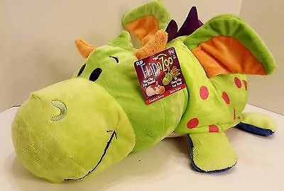 "Flip A Zoo (DRAGON + UNICORN) 16"" Pillow FLIPAZOO Huggable Wonderful Two in One"
