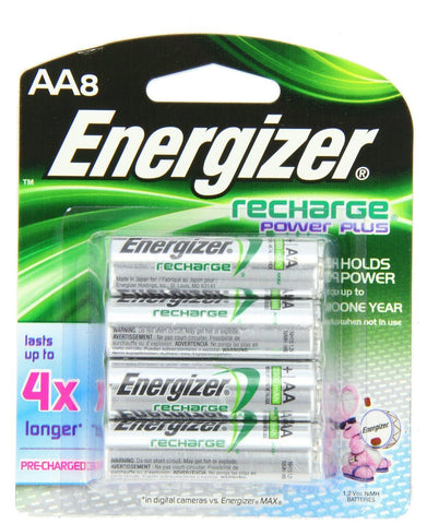 Energizer AA Rechargeable NiMH Batteries, Power Plus EXP 2021 (8/pack, AA8)
