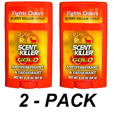 Scent Killer Gold Antiperspirant & Deodorant 2.25oz 1247 Wildlife Research (2 Pack)