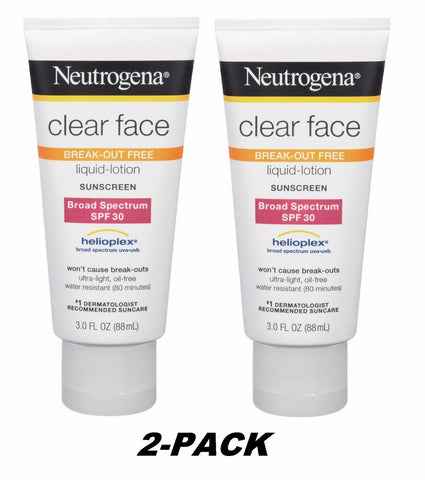 2PK ON SALE:  Neutrogena Clear Face 30  Sunscreen 3oz Lotion (VALUE 2-PACK)