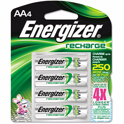 AA4 AA Energizer Universal Rechargeable NiMH Batteries EXP 2021 (4/pack)