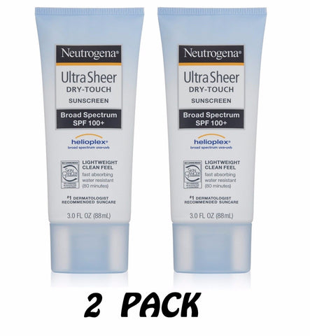 2pk - Neutrogena Ultra Sheer Dry-Touch Sunscreen SPF 100 3oz (2 Pack)