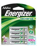 AAA4 Energizer Rechargeable 4/pack NiMH Batteries, EXP 2021 AAA Recharge Power+