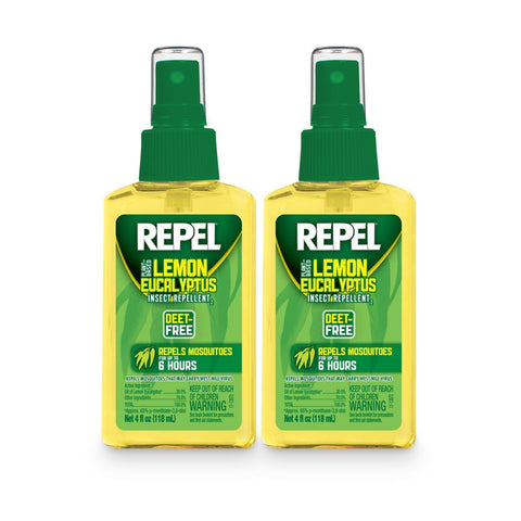 REPEL Lemon Eucalyptus Natural Insect Mosquito Repellent 4oz (2 PACK)