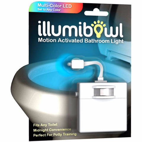 illumibowl - Motion-Activated Toliet Night Light,  AS SEEN ON TV, SHARK TANK