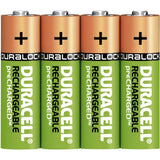 4/pack Duracell AA Rechargeable Batteries AA4 1.2V NiMH EXP 2021 (4x1) DX1500