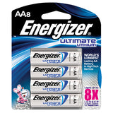 Energizer Ultimate Lithium AA Batteries 8-Pack Exp. 2036 (L91BP-8) AA8