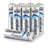 Energizer L91BP-8 Ultimate Lithium AA Batteries (8-Pack) 1.5v AA8 3000mAh X2036