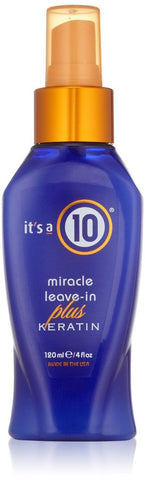 Its a 10 by IT'S A 10 Miracle Leave-in Plus + Keratin 4oz, All Hair Unisex 4OZ