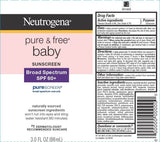 Neutrogena Baby Sunscreen Pure & Free Lotion SPF 60 3oz PureScreen Broad UVB