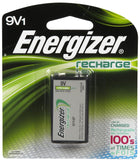 1/pack 9V Energizer Rechargeable NiMH Battery EXP 2021 9V1 Recharge