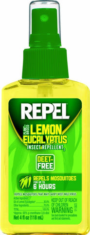 Repel Lemon Eucalyptus Insect Repellent Pump 4oz - Natural Mosquito DEET-FREE
