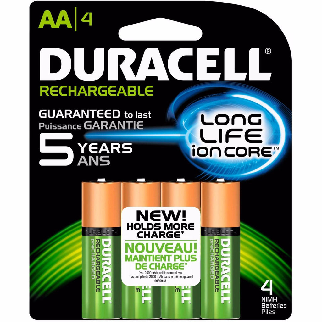 4 Pack Duracell AA Rechargeable Batteries AA4 12V NiMH EXP 2021 4x1