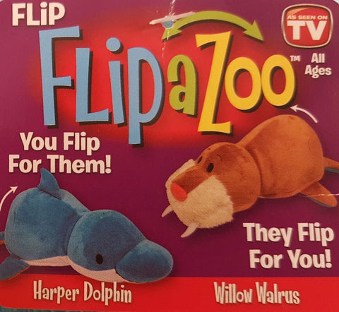 16 Flip A Zoo Walrus Dolphin Stuffed Animal Flipazoo Huggable