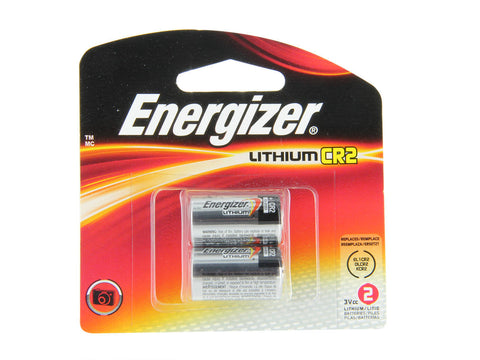 Energizer CR2 800mAh 3V Lithium (LiMNO2) Photo Batteries (EL1CR2BP2) - 2 Pack