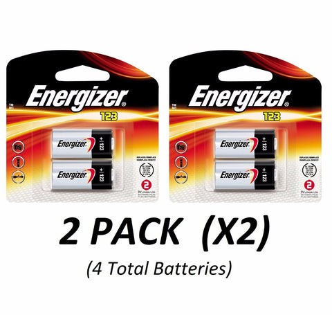 CR123A Lithium Energizer Batteries EXP 2026, 1500mAh 3V Photo (2/Pack x2 =4 Total)
