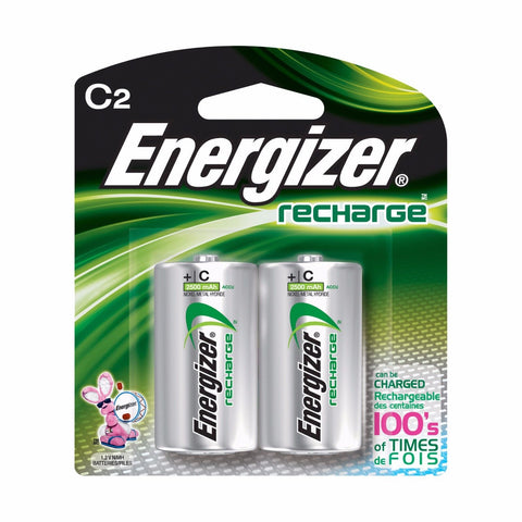 Energizer C2 Rechargeable Size C Batteries, 2-Count  - NiMH Recharge (NH35BP-2)