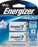 2/Pack Energizer Ultimate Lithium Batteries 9V, Lithium Battery L522BP2 EXP 2026