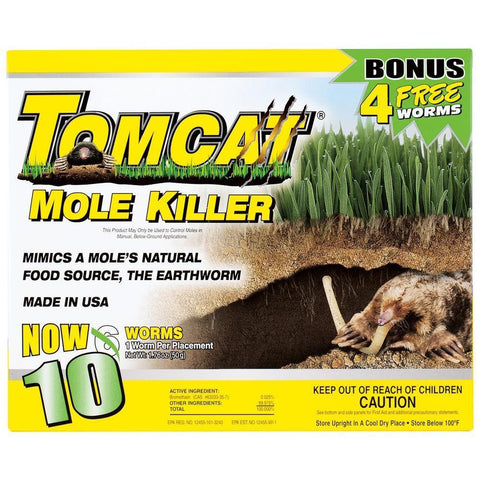 Tomcat Mole Killer, 10Pack, New, Free Shipping