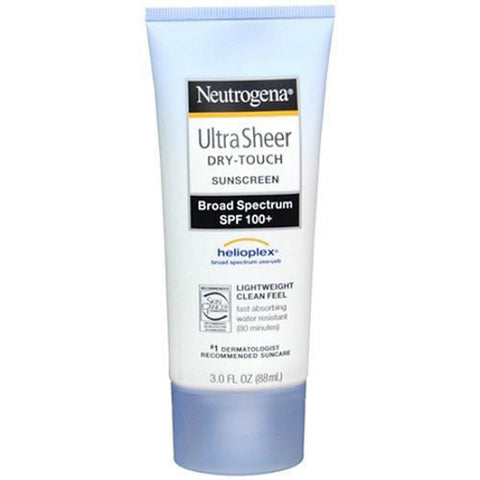 Sunscreen Neutrogena Ultra Sheer Dry-Touch SPF 100+ 3oz Helioplex Broad EXP 2018
