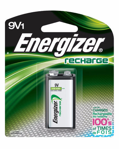 9V Energizer Rechargeable NiMH EXP 2021, 9V1 Recharge Battery (NH22BP)