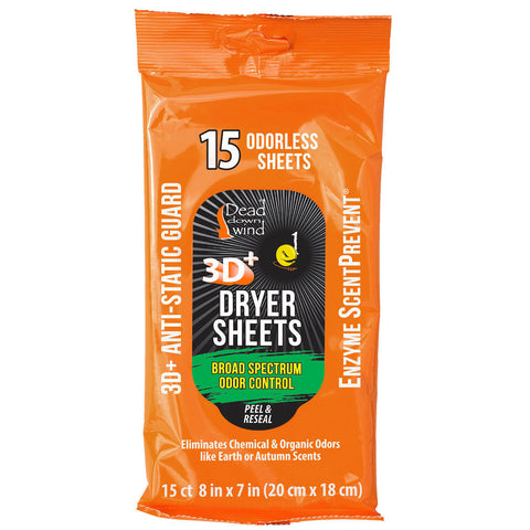 Dead Down Wind Dryer Sheets 15CT (& Multi-Pack Options) 1113 DDW Scent Eliminate