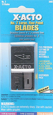 X-Acto Blade #2 Large Fine Point 15pc