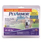 PetArmor Plus for Dogs 45-88 Lbs, 6-Count