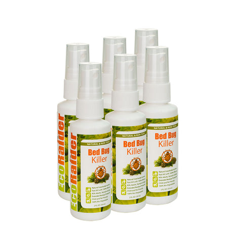 EcoRaider - Bed Bug Killer Spray - 2oz (SIX-PACK)