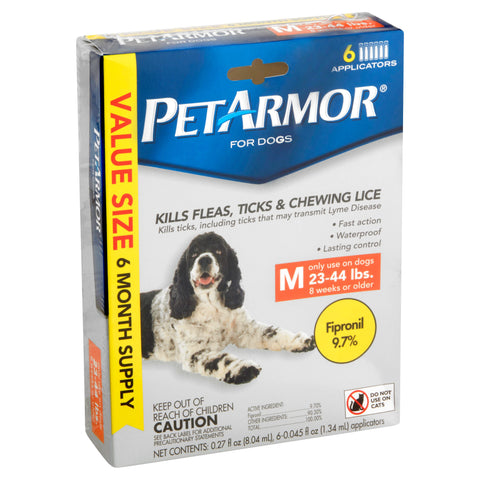 PetArmor Fleatick for Dogs 23-44 Lbs, 6-Count