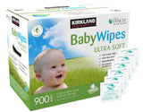 Kirkland Signature Ultra Soft Baby Wipes - 900 Count (9 - 100CT Soft Packs with Flip-Top Lids)