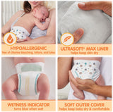 Member's Mark Premium Baby Diapers with HealthandOutdoors Moist Towelettes (Size 3 - 234 Count)