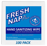 Fresh Nap BZK W/ Alcohol Antiseptic Wipes (100 Count)