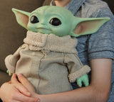 Disney Star Wars Mandalorian The Child Baby Yoda 11 Inch Plush Figure With Wearable Pendant, Accessories and Exclusive Pack-A-Hatch!
