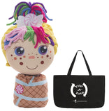 Flip Zee Girls Zandy w/ Exclusive Flipatote, Sweet and Cuddly 2-in-1 Plus Doll with Carry Bag