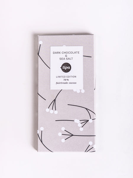 Fairtrade dark chocolate (70%) & sea salt