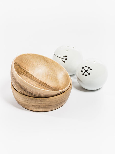 Set of wooden bowls from walnut wood