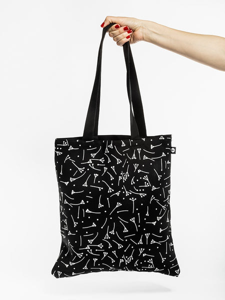 Black bag with print