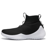 Sock Knit Shoes High Black