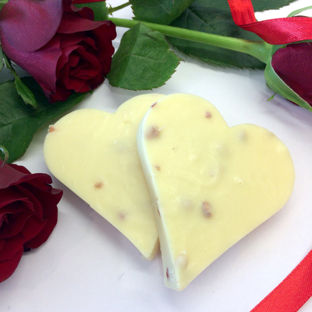 Strawberry & Prosecco Fudge Hearts